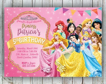 Princess Birthday Invitation Etsy