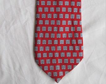 NWT Mens Silk Neck Tie Custom By Vineyard Vines Horizons for Homeless Children Emblem Necktie