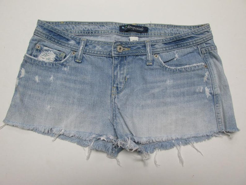 2098653c75 Distressed Aeropostale Denim Shorts Size 9/10 | Etsy