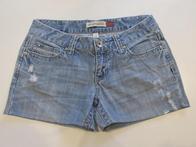 ae3de4c9ef Aeropostale Women's Distressed Denim Shorts Size 7/8 | Etsy