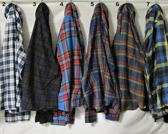 """Vintage Men's Medium (9830) Flannel Shirts """"You Pick 'Em"""" GROUP 2"""