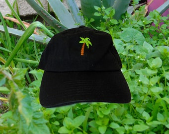 79ace2ce96a47a Embroidered Palm tree dad hat