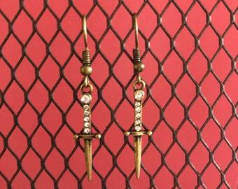 Cute dagger earrings