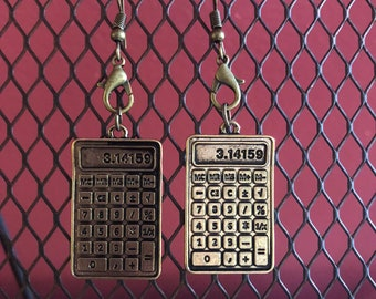 Calculator Earrings