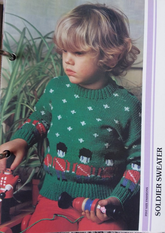 Simply Beautiful Knitting Vintage Pattern Collection Binder 1986