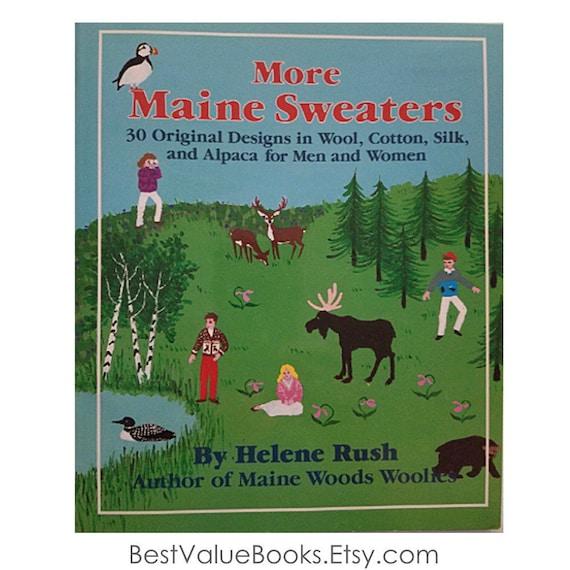 Knitting Books More Maine Sweaters By Helene Rush 30 Original Etsy