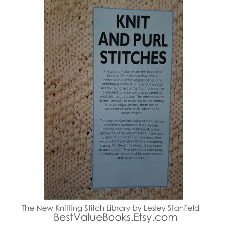 Knitting Books The New Knitting Stitch Library By Lesley Etsy