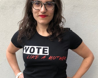 Vote Like a Mother Classic Crew in Black