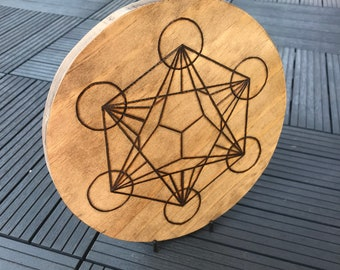 Dodecahedron Grid Woodburning