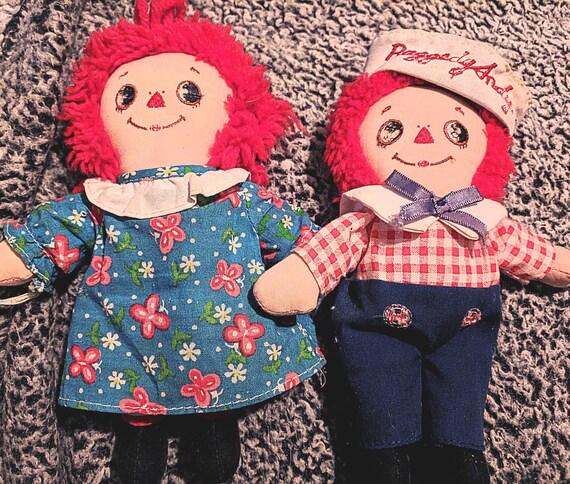 Vintage Knickerbocker Raggedy Ann & Andy Set of two