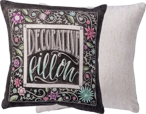 "Humorous""Decorative Pillow"" throw pillow"
