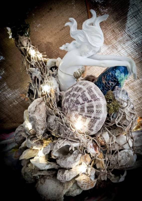 Mermaid Oyster Ball Tabletop Decor