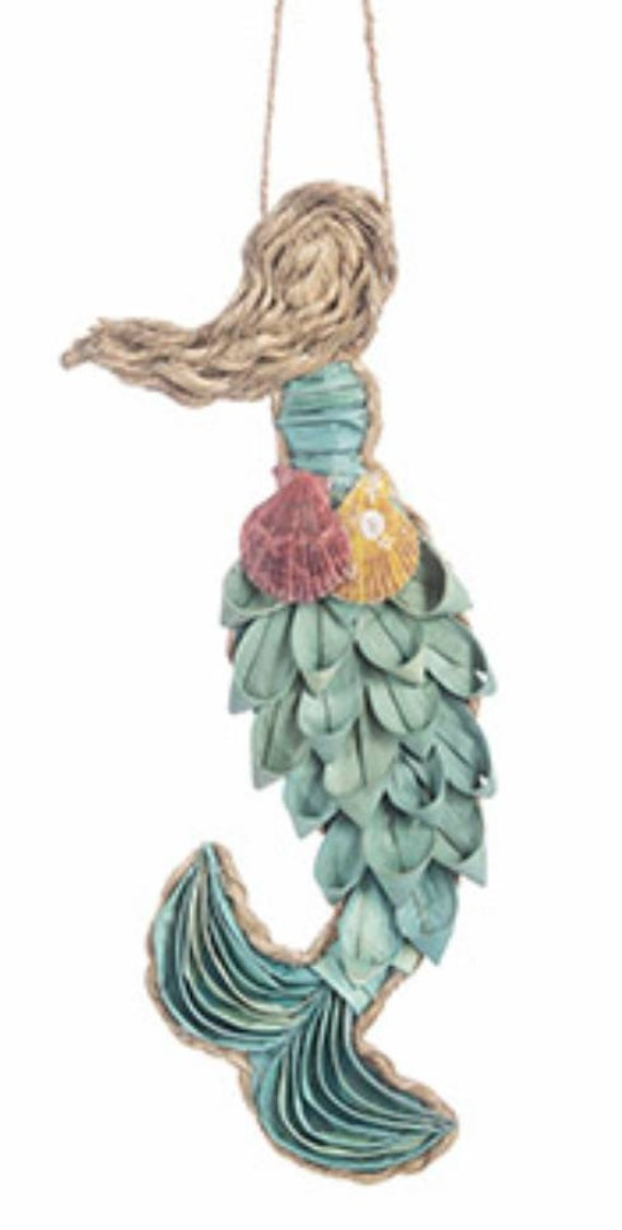 "16"" Hanging Plantain Leaf Mermaid"