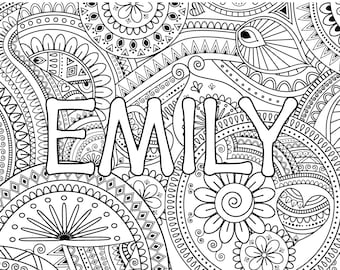 Name coloring pages  Etsy