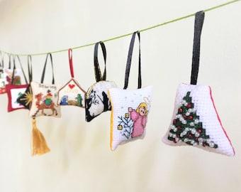 Klassic Christmas Cross-stitch Mini-Ornament Set NZ