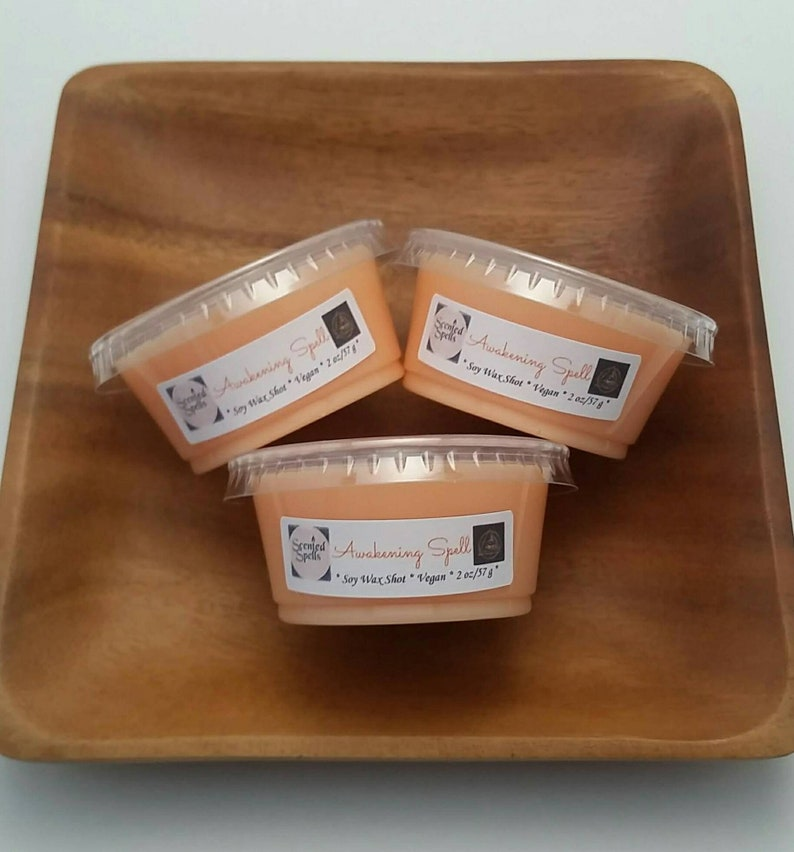 Awakening Spell Vegan Soy Wax Shot Ecofriendly Wiccan Inspired Candle Melt Citrus Scented Soy Wax Tart