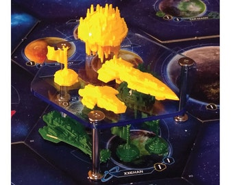 Set of three 94mm x 40mm Fleet Stands for Twilight Imperium 4!