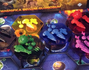 BLACK IS BACK! Set of six 94mm x 40mm Fleet Stands for Twilight Imperium 4!