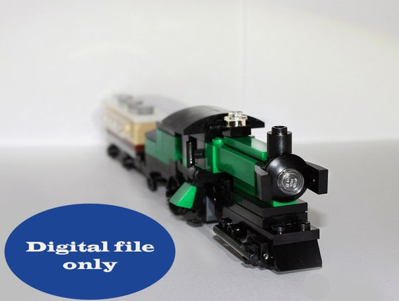 Lego Train Digital Gift Download Instruction Lego Building Etsy