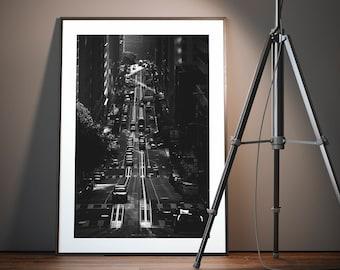 San Francisco - California Street / Black & White Photography / Fine Art Print / Wall Decor