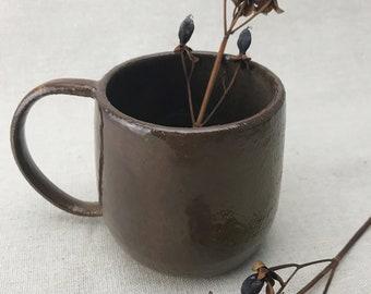 Chocolate Brown Ceramic Mug 8 Oz