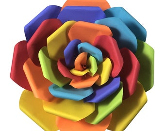 Rainbow Pride Paper Flowers in 3 Sizes, First Anniversary, Gift for Him, Gift for Her, Pride Month, LGBTQ+ Decor, LGBTQ+ Gifts, Love is love