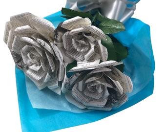 Shakespeare Book Paper Flower Bouquet, Literary Gift, Bookish Gift, 1st Anniversary, Shakespeare in Love, Gift for Teacher, Gift for Mom