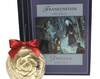 Dracula Christmas Tree Ornament - 2020 Collection, Gift for Book Lovers, Holiday Home Decor, Gothic Decor, Vampire Christmas, Christmas Gift