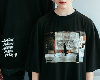 9b9c85c4566c Jean-Michel Basquiat T-shirt, Young Basquiat, SAMO, New-York, Brooklyn,  80s, Art t-shirt, Basquiat Photo, Oversized t-shirt, Tumblr clothes