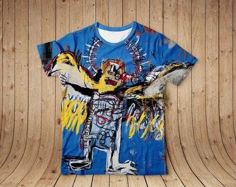 44585b1b5482 T-shirt, Fallen Angel, Jean-Michel Basquiat T-shirt, Unisex T-shirt,  Printed T-shirt, Cotton T-ahirt, Art, All sizes, Free Shipping, Unisex