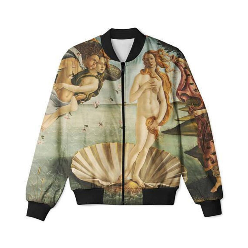b49080ac0 Birth of Venus Bomber Jacket, Venus,Unisex Bomber, Botticelli,Full  Print,Women's,Men's sizes,Zip Front Jacket, Art print,All sizes,Plus Size