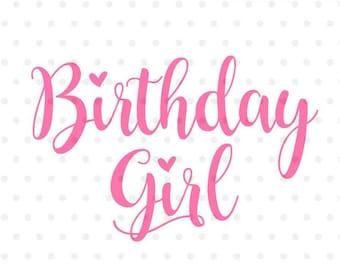 girl birthday Birthday girl svg | Etsy girl birthday
