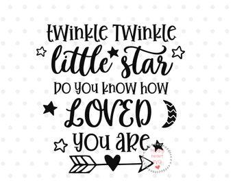 Twinkle Twinkle Little Star Svg Etsy