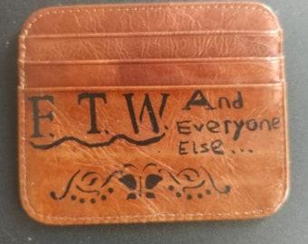Slim Leather Wallet Card Holder Credit Cash Thin Minimal