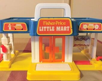 Vintage 1987 Fisher Price Little People Little Mart #2580
