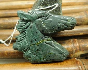 Natural Gemstone Animal Lover Poppy Jasper Horse Gemstone Horse Head B2205 Animal Craft Horse Pendant Animal Gift Healing Crystal