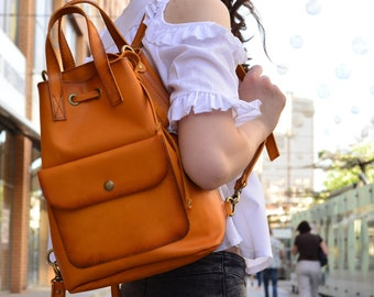 Leather Backpack  Leather Backpack women  Backpack women  Backpack  Leather bag  Leather purse  Black backpack  Leather bags  Brown Backpack