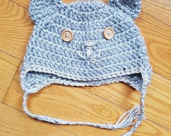 Baby Bear Crochet Hat 6-12 months