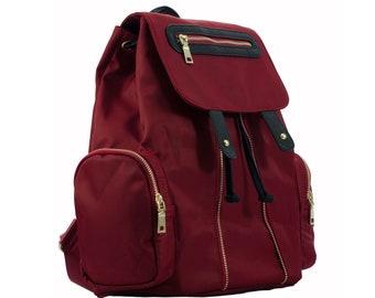 8c1175153d Nylon Backpack - Burgundy Red