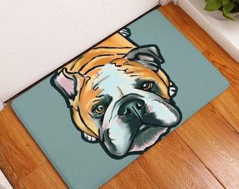 c108413a87a Dog Mat   Dog Carpet   Dog Doormat   English Bulldog   Dog Painting   Dog  Lover   Dog Gift   Cartoon Dog   Free Shipping