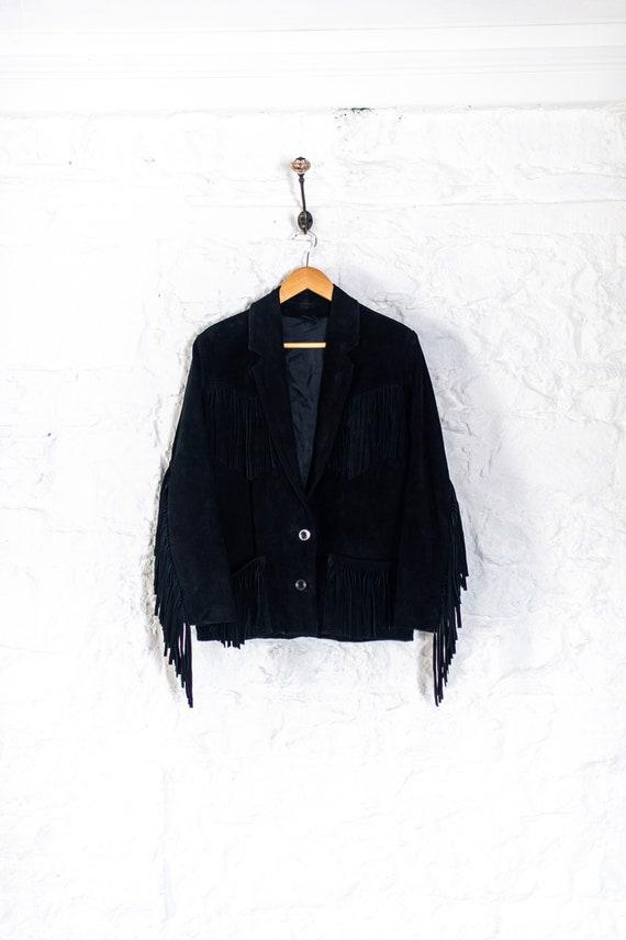 Vintage 70s Suede Tassle Jacket - S/M - 1970s - Re