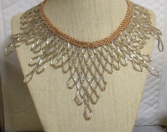 Diamond Beadweave Necklace
