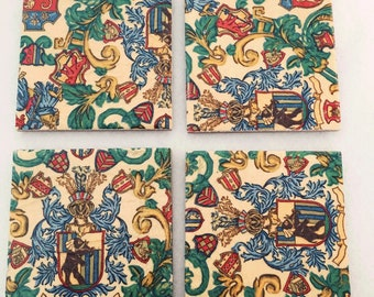 Handcrafted Shabby Chic Ceramic Tile Coasters