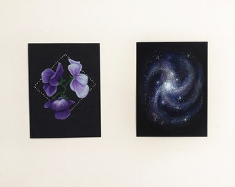 Flower Galaxy Original Drawing Set