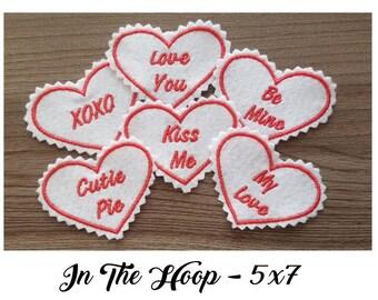 6f0f4efda4b15 Valentines hoops | Etsy