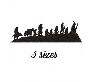 696faabe Lord of the Rings (LOTR) Silhouette Machine Embroidery Design File in 3  Sizes LOTR Machine Embroidery Design Gandalf embroidery pattern