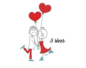 c79c8f357 Valentine's day Machine Embroidery Design hearts embroidery Valentine's day  design I Love you embroidery Couple embroidery