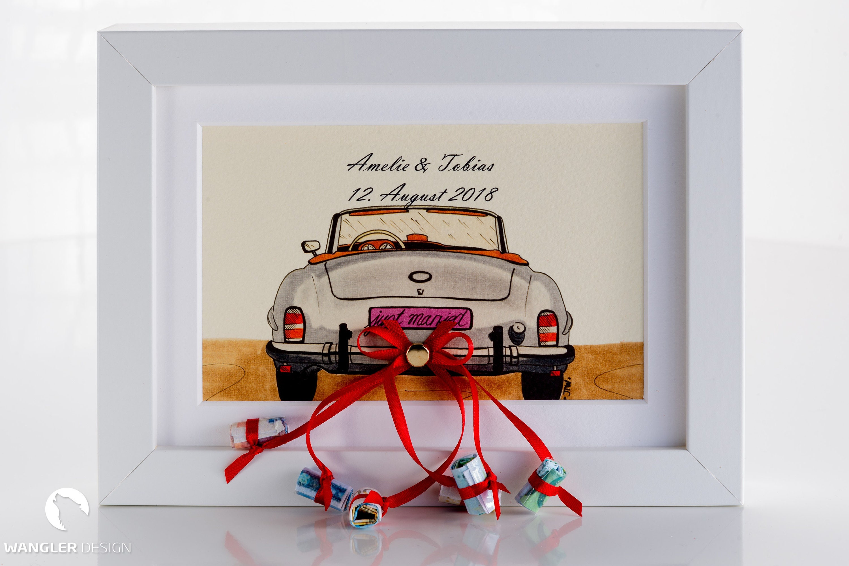 Hochzeitsgeschenk Auto Bilderrahmen Geldgeschenk   Etsy