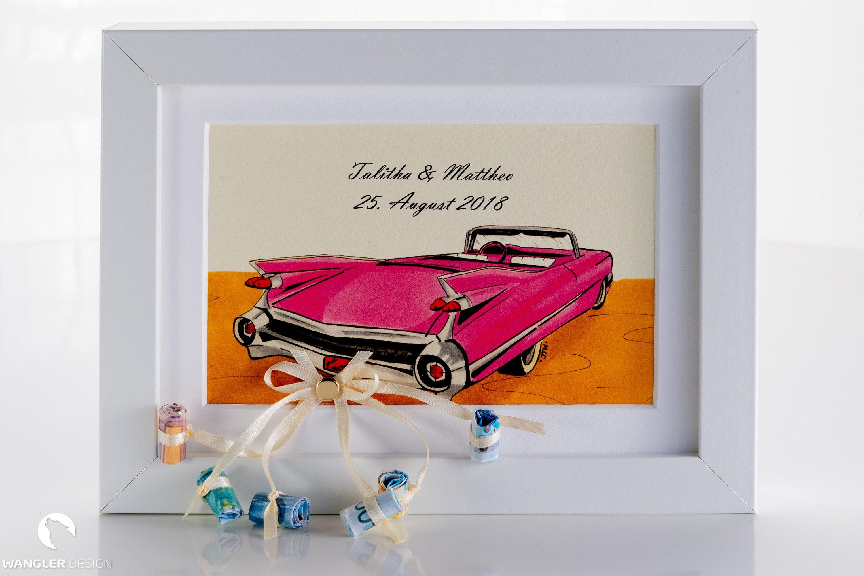 Hochzeitsgeschenk Geldgeschenk Auto Bilderrahmen   Etsy