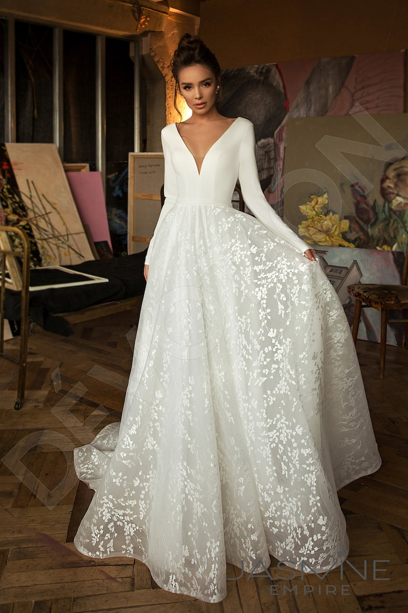 Individual size A-line silhouette Bonna wedding dress